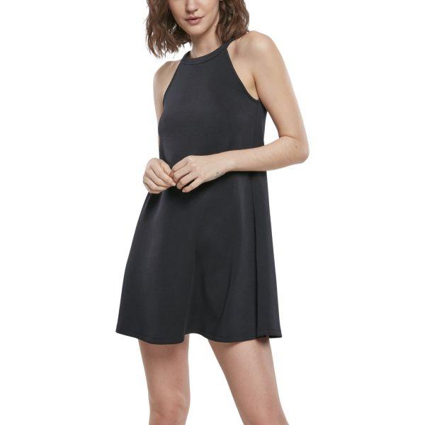 Urban Classics Ladies - Soft Interlock Loose Kleid schwarz