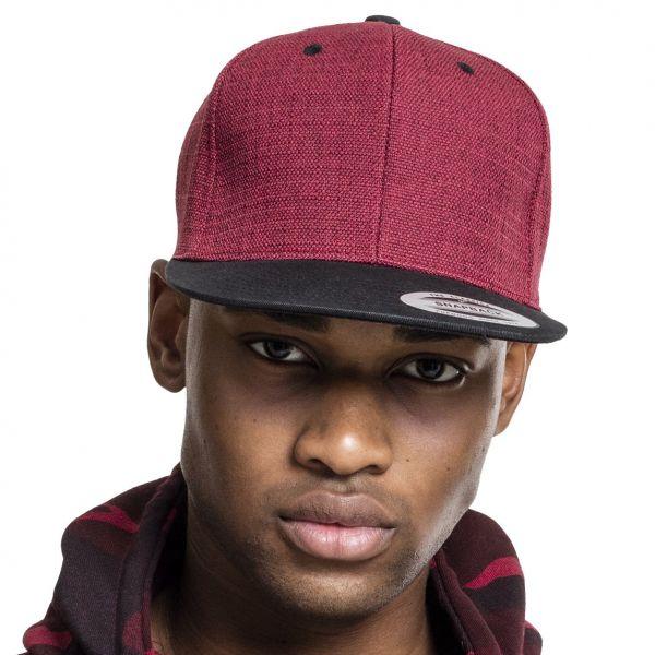 Flexfit MELANGE 2-Tone Snapback Cap - red / black