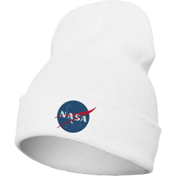 Merchcode Wintermütze Long Beanie - NASA weiß