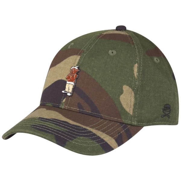 Cayler & Sons Curved Strapback Cap - CEE LOVE wood camo