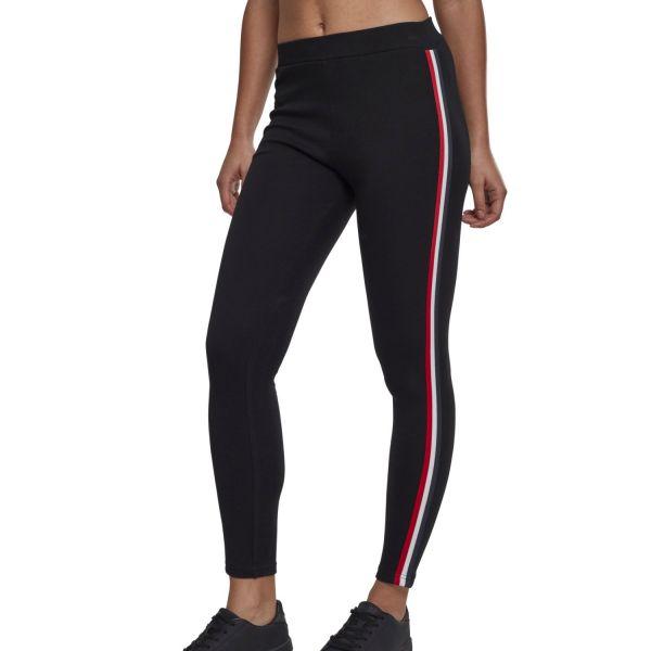 Urban Classics Ladies - TAPE Stripe Stretch Fitness Leggings