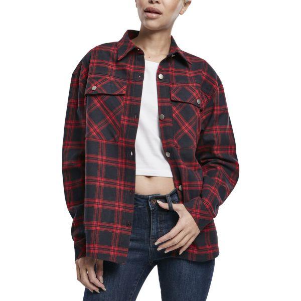 Urban Classics Ladies - FLANELL Oversized Hemd Shirt