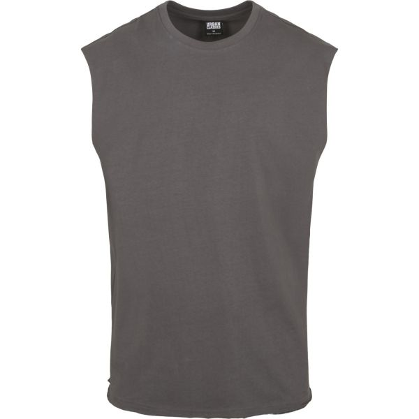 Urban Classics - OPEN EDGE Sleeveless Shirt dark shadow
