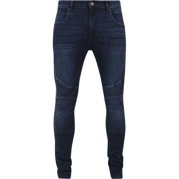 Urban Classics - SLIM FIT Denim Biker Jeans bleu washed