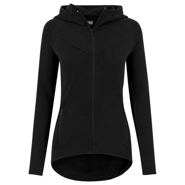 Urban Classics Ladies - ATHLETIC INTERLOCK Fitness Zip Hoody