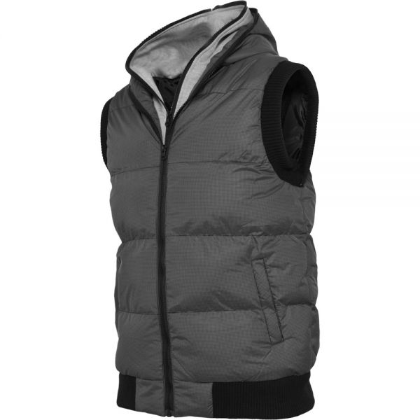 Urban Classics - DOUBLE HOODED Weste grau