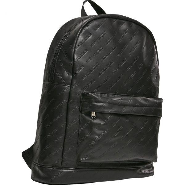 Urban Classics - Kunstleder Backpack Rucksack schwarz
