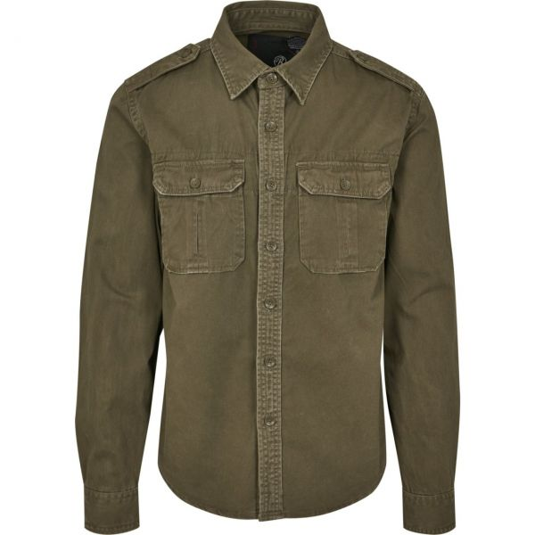Brandit - VINTAGE Denim Hemd washed look