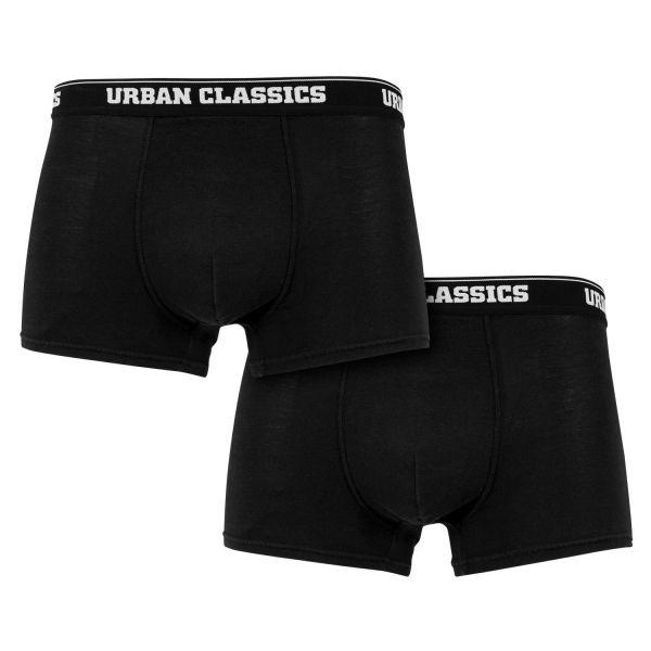 Urban Classics - MODAL Boxer Shorts 2er Pack schwarz