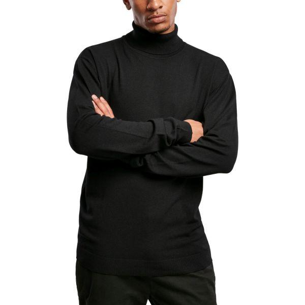 Urban Classics - Turtleneck Stehkragen Sweater schwarz