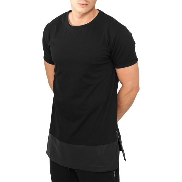 Urban Classics - SIDEZIP Kunstleder Long Shirt