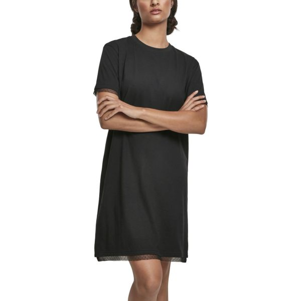 Urban Classics Ladies - Boxy Lace Hem Kleid schwarz