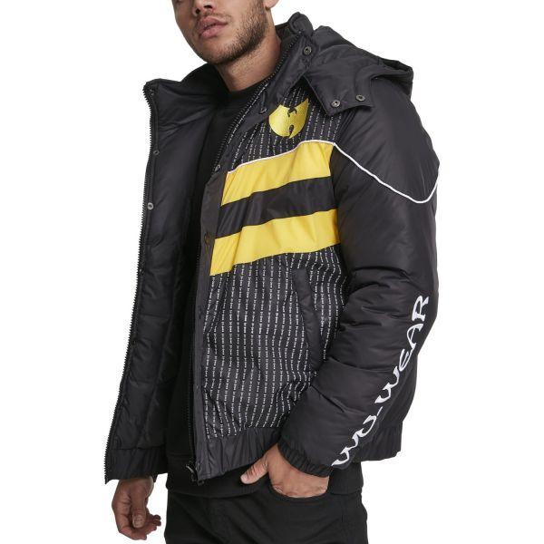 Wu-Wear Hip Hop Puffer Veste d'hiver noir