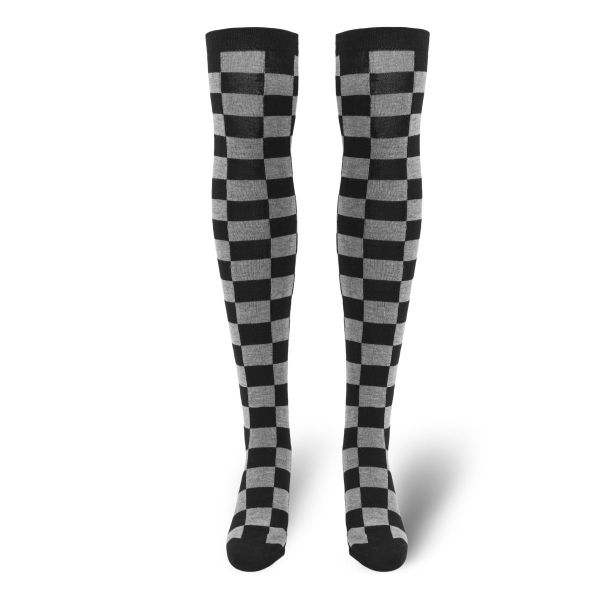 Urban Classics Ladies - CHECKER Kniestrümpfe Overknee Socken