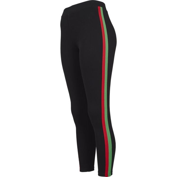 Urban Classics Ladies - TAPE Stripe Stretch Fitness Leggings