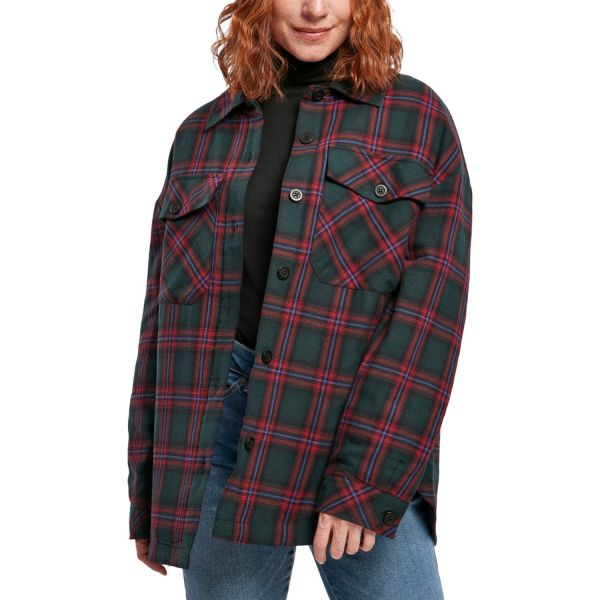 Urban Classics Ladies - FLANELL Padded Overshirt Hemd