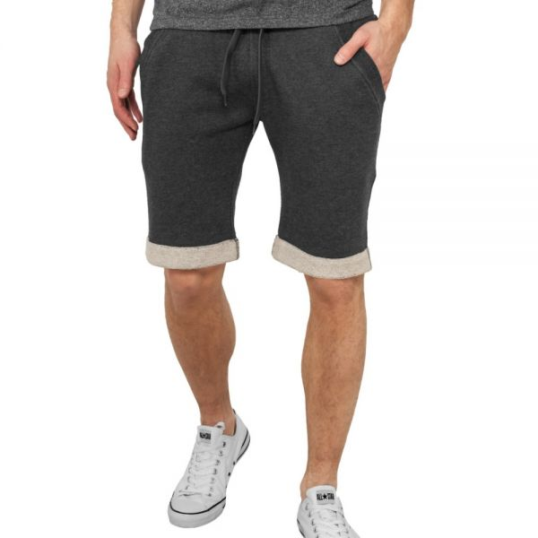 Urban Classics - TURNUP Fleece Sweatshorts charcoal