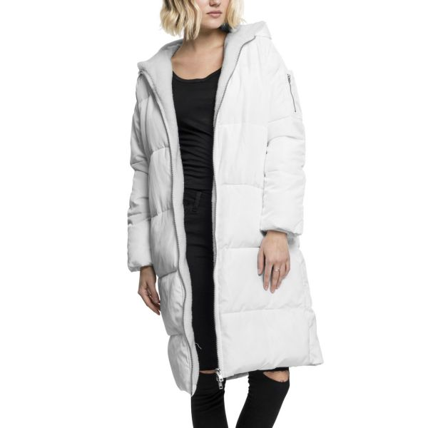 Urban Classics Ladies - Oversized Hooded Puffer Winter Mante