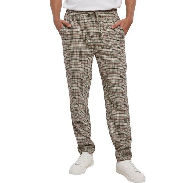 Urban Classics - Tapered Check Jogger Pantalon beige