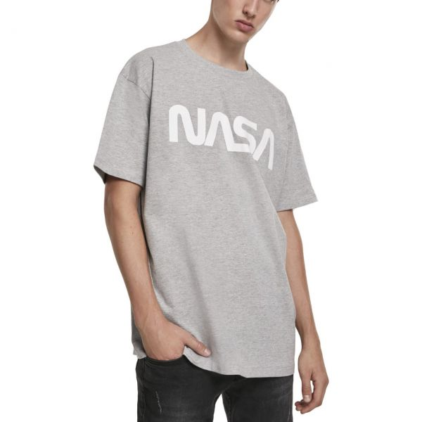 Mister Tee Heavy Oversized Shirt - NASA grau
