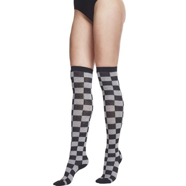 Urban Classics Ladies - Overknee Socks black / charcoal