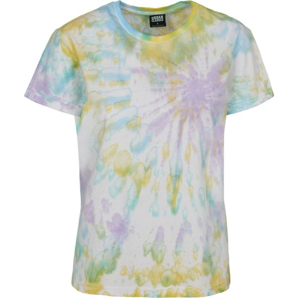 Urban Classics Ladies - Tie Dye Boyfriend Shirt Top