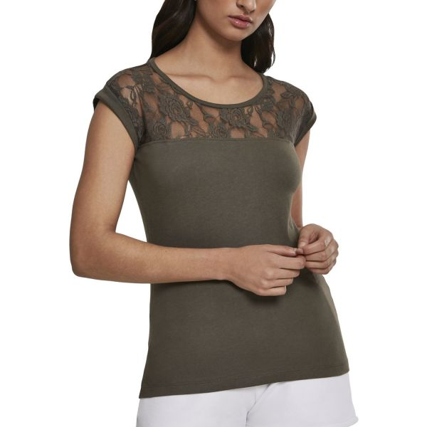 Urban Classics Ladies - FLOWER Fashion Loose Top Shirt