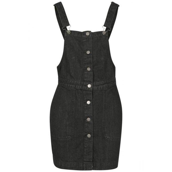 Urban Classics Ladies - Denim Dungaree Latzhose Kleid