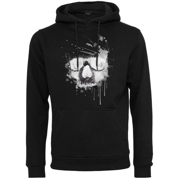 Mister Tee Fleece Hoody - Waterpaint Skull black