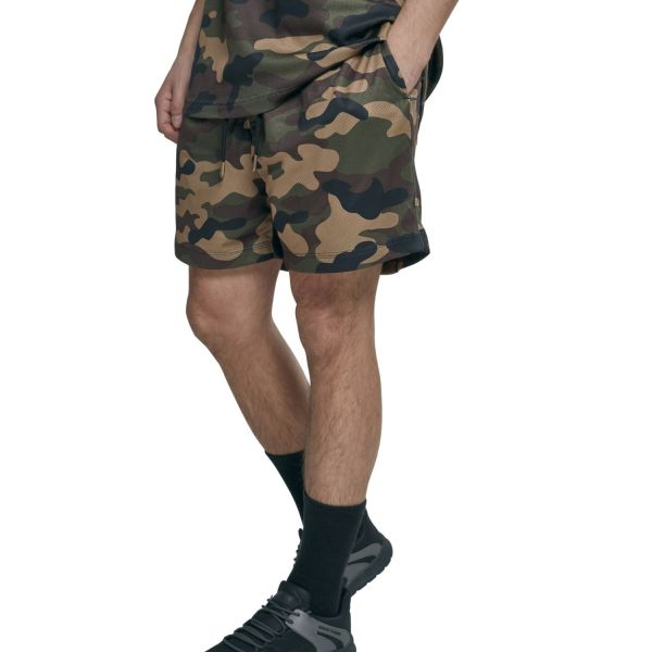 Urban Classics - MESH Sport Fitness Sommer Army Shorts