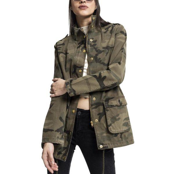 Urban Classics Ladies - COTTON PARKA Jacke wood camo