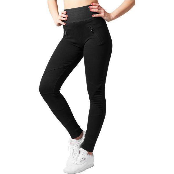 Urban Classics Ladies - INTERLOCK HIGH Leggings noir