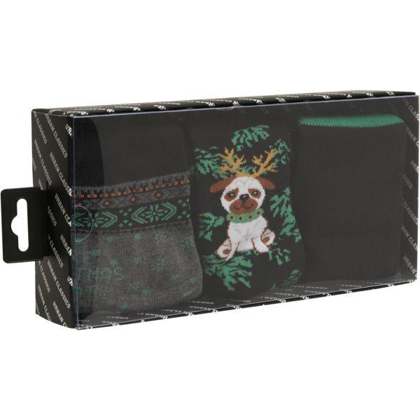 Urban Classics - Christmas Dog Unisex socks 3-pack