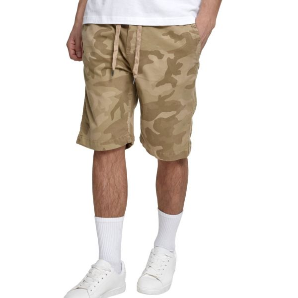 Urban Classics - Stretch Jogging Shorts sand camo