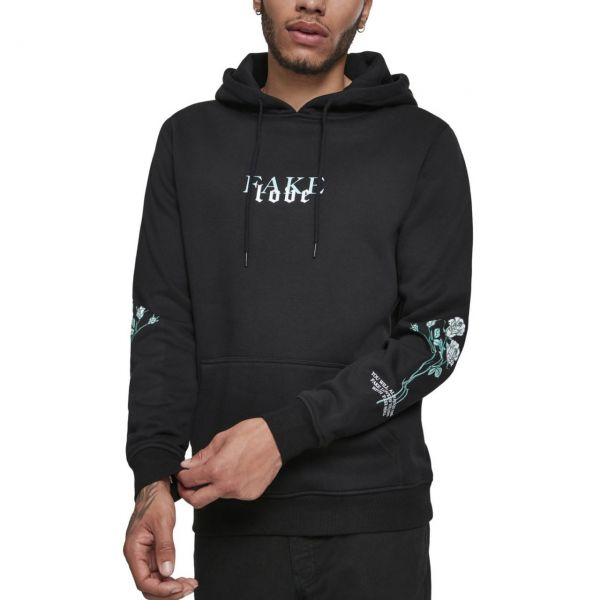 Mister Tee Fleece Hoody - FAKE LOVE noir