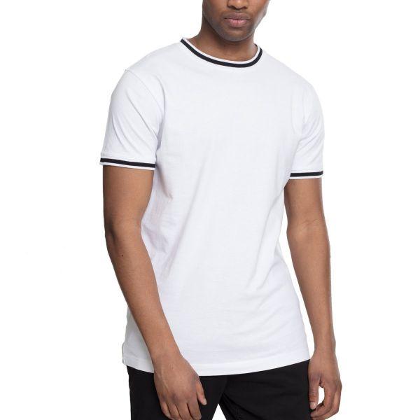 Urban Classics - COLLEGE Shirt blanc / noir
