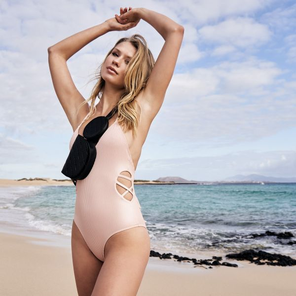 Urban Classics Ladies - Rib Swimsuit Badeanzug