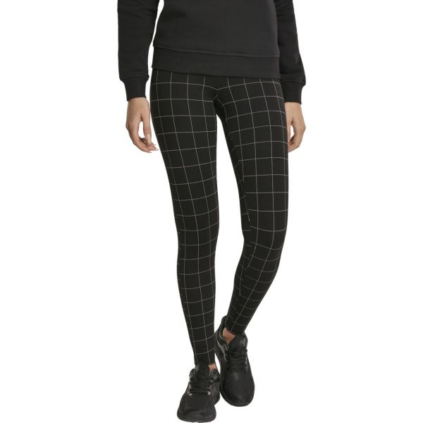 Urban Classics Ladies - CHECK High Waist Leggings noir
