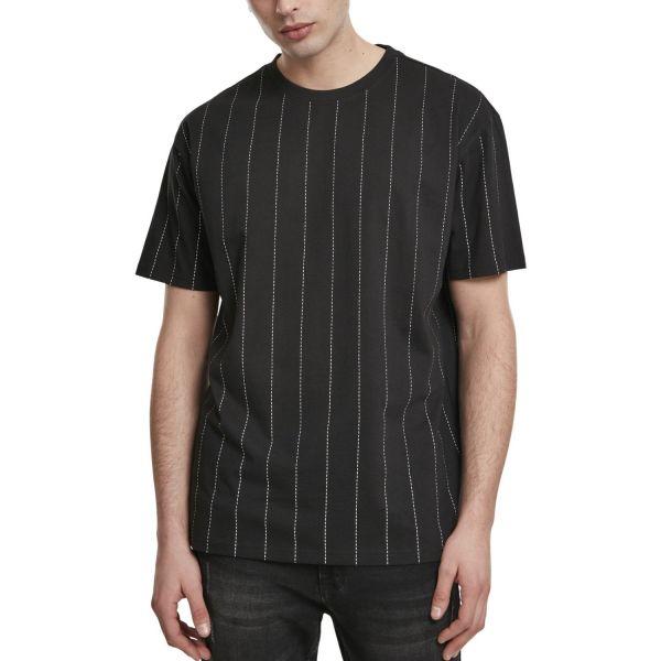 Urban Classics - Oversized Pinstripe Shirt noir