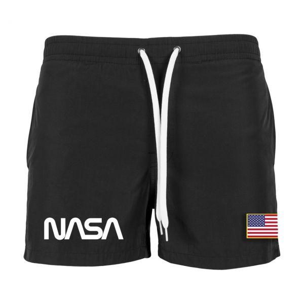 Mister Tee NASA Worm Logo Swim Shorts Badeshorts