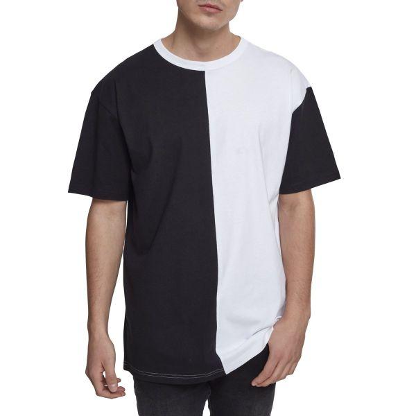 Urban Classics - HARLEQUIN Oversized Shirt black / white