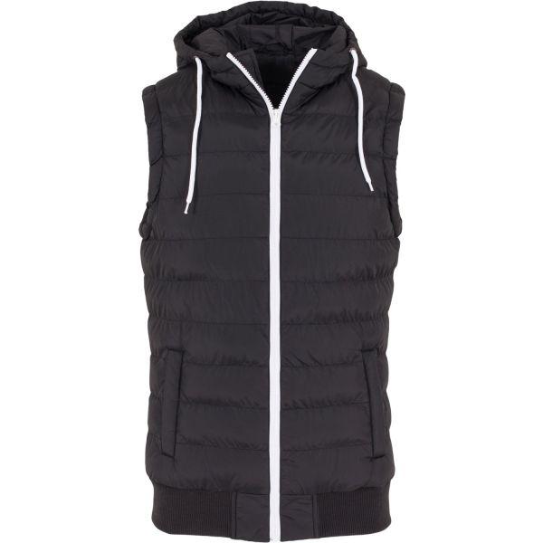 Urban Classics - HOODED SMALL BUBBLE Vest black / white