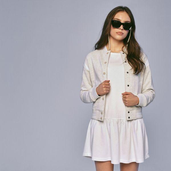 Urban Classics Ladies - INSET College Sweat Jacke