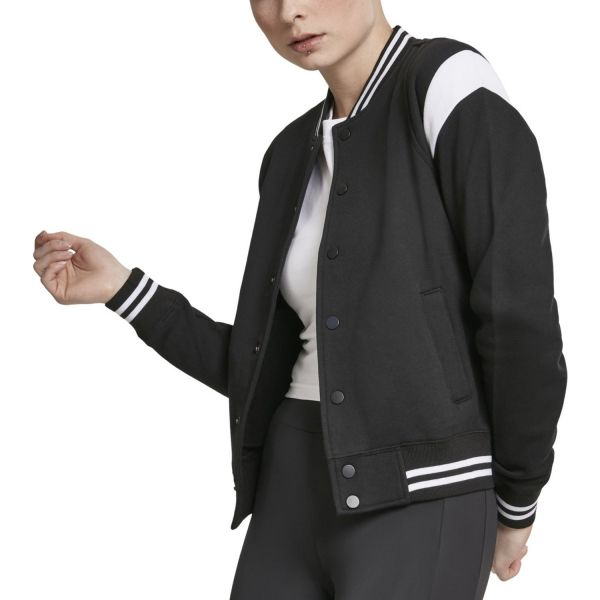 Urban Classics Ladies - INSET College Sweat Veste noir