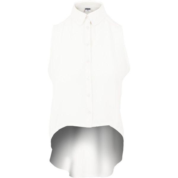 Urban Classics Ladies - HiLo Chiffon Hemd Bluse Shirt