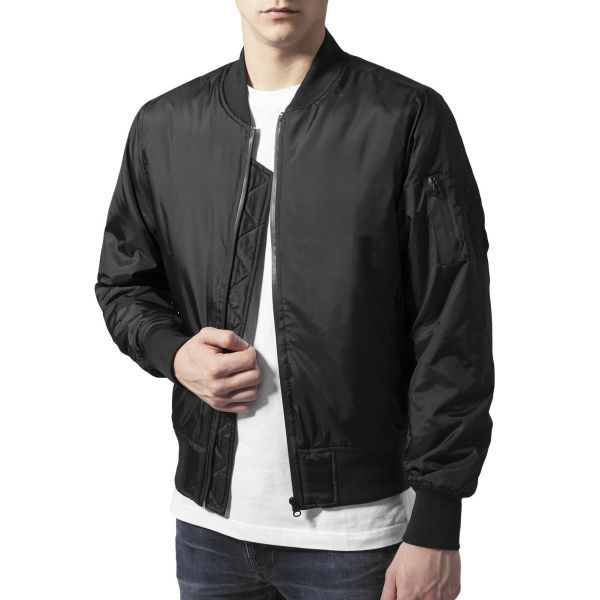 Urban Classics - TECH ZIP Bomber Jacket schwarz