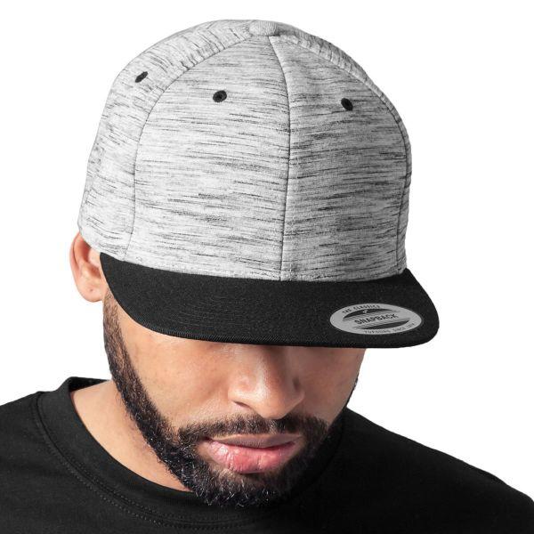 Flexfit STRIPES MELANGE Snapback Cap - schwarz / grau