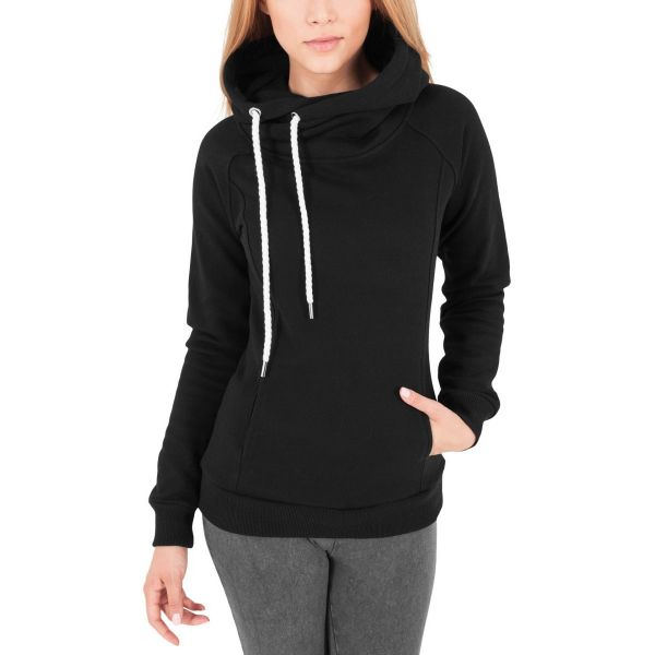 Urban Classics Ladies - RAGLAN HIGH NECK Fleece Hoody