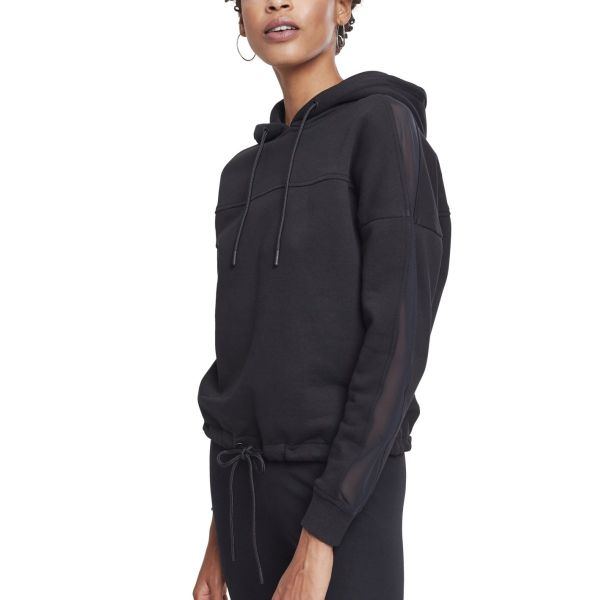 Urban Classics Ladies - Oversized Tech Mesh Hoody schwarz