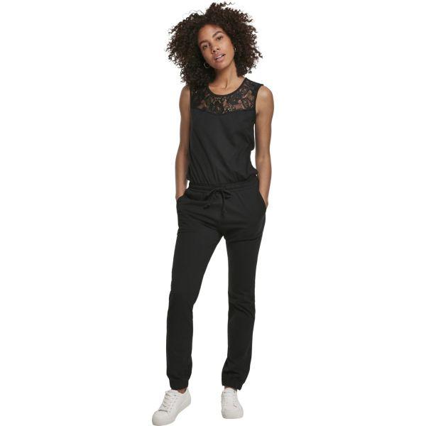 Urban Classics Ladies - Laces Jumpsuit black